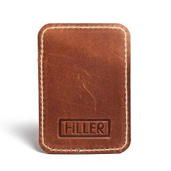 Hiller Leather Mobile Business Card Holder/Pocket Wallet/Money Purse for Men and Women. (Cinnamon)