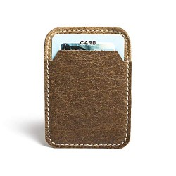 Hiller Leather Mobile Business Card Holder/Pocket Wallet/Money Purse for Men and Women. (Coffee)