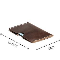 Hiller Leather Busines Card Holder/Pocket Wallet/Money Purse for Men and Women. (Equestrian French Roast)