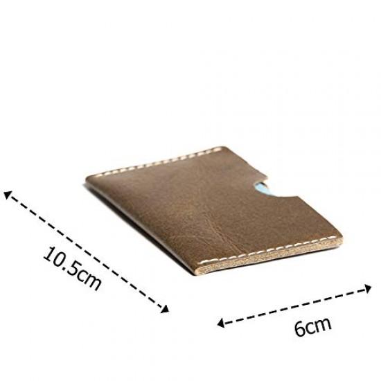 Hiller Leather Business Card Holder/Pocket Wallet/Money Purse for Men and Women. (WRITER TREK)