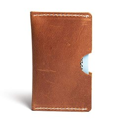 Hiller Leather Busines Card Holder/Pocket Wallet/Money Purse for Men and Women. (Elmotique Champagne)