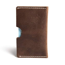 Hiller Leather Busines Card Holder/Pocket Wallet/Money Purse for Men and Women. (Equestrian French Roast)