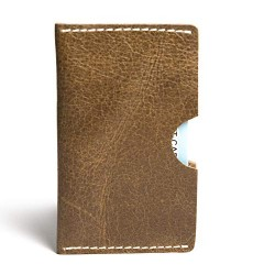 Hiller Leather Business Card Holder/Pocket Wallet/Money Purse for Men and Women. (WRITER TREK)