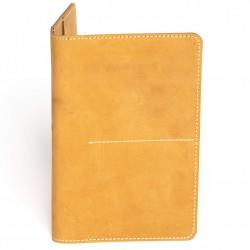 Hiller Leather Family Passport Holder/Business Card Holder/Money Purse for Men and Women (Elmotique Champagne)