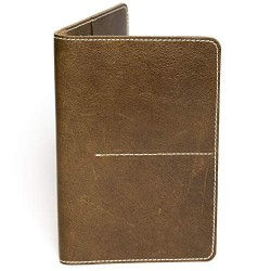 Hiller Leather Family Passport Holder/Business Card Holder/Money Purse for Men and Women (Writer)