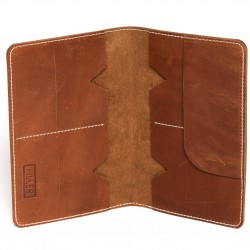 Hiller Leather Family Passport Holder/Business Card Holder/Money Purse for Men and Women (Equestrian French Roast)