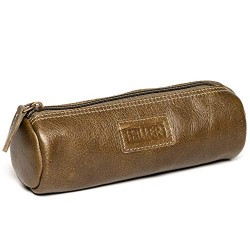 Hiller Premium Quality Leather Stylish Multipurpose Roll Pouch Organizer/Pencil Pouch/Make Up Pouch for Men and Women. (Writer Trek)