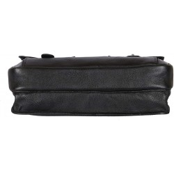 Leather Messenger Bag Cum Office File Bag for Men Expandable Made in Pure Leather (Black)