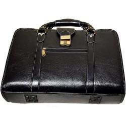 Leather Accessories Men's Leather Shoulder Bag(Black)