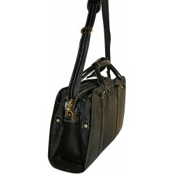 Leather Shoulder Bag(Black)