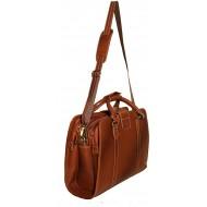 Leather Accessories Men's Leather Shoulder Bag(Tan)