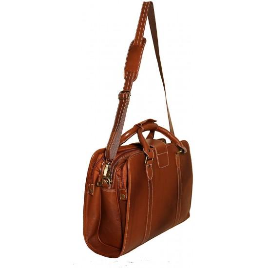 Leather Shoulder Bag(Tan)