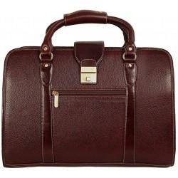 Leather Shoulder Bag(Brown)