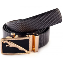 Hi Class Golden Bucle Italian Leather Belt