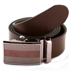 Designer Auto Lock Bucle Leather Belt