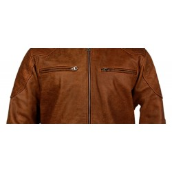Brown buffalo leather jacket
