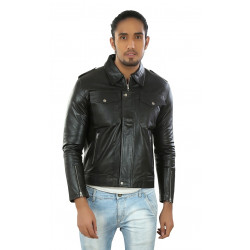 Hiller Black Leather Jacket