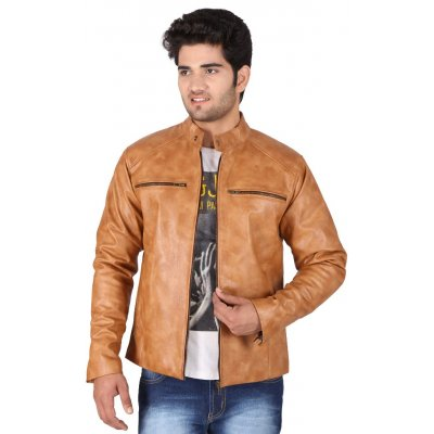 Brown Genuine  Leather Jacket By Hiller