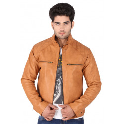 Brown Colour Classy look Stylish Leather Jacket