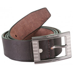 RoughNTough Black Leather Belt With Pin Buckle