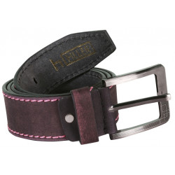 RoughNTough Brown Stitched Leather Belt With Pin Buckle