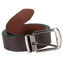 Designer Black Belt With Pin Buckle