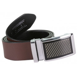 Unique Designer Brown Belt With Auto Lock Buckle