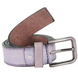 RoughNTough Snake Print Designer Leather Belt With Metallic Pin Buckle