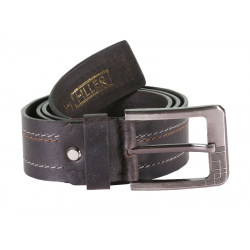 HILLER TRIPLE STITCHED  LEATHER BELT