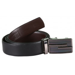 Plain Black Belt With AutoLock Buckle