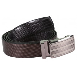 Seek Designer Brown Leather Belt With AutoLock Buckle