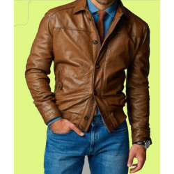 Shirt type stylish Gents Leather Jacket