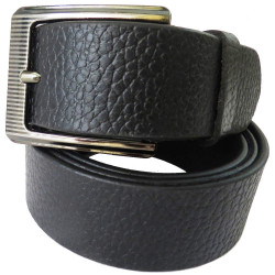 Formal Black Leather Belt