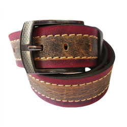 Maroon Brown Casual Leather Belt