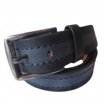 Dark Bottled Blue Leather Belt
