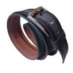 Dark Bottled Blue Leather Belt