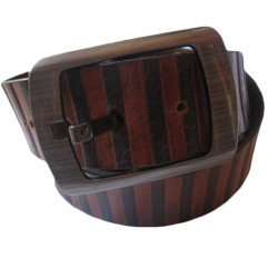 Dual Color Leather Belt