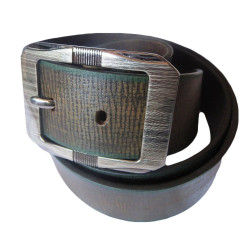 Road Texture Leather Belt