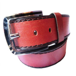 Red Orange Leather Belt