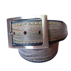 Tree Texture Leather Belt