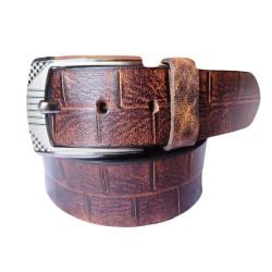 Tan Burnt  Leather Belt
