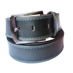 Bottled Green Leather Belt