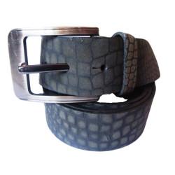 Crocodile Texture Leather Belt