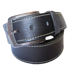 White Stiched Casual Leather Belt