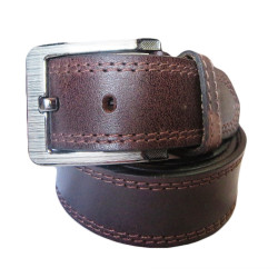 Four Stiched Leather Belt