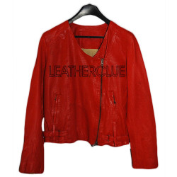 Red Color Ladies Jacket