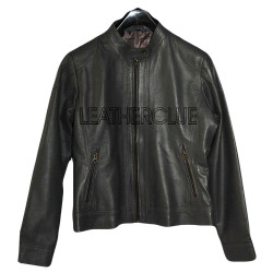 Red Color Stylish Ladies Leather Jacket