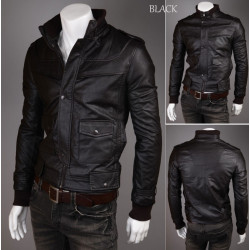 Black Classy Look Leather Jacket