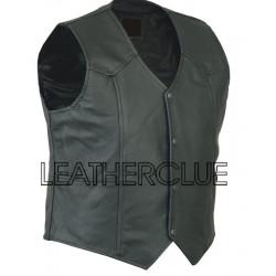 Stylish Leather Waistcoat
