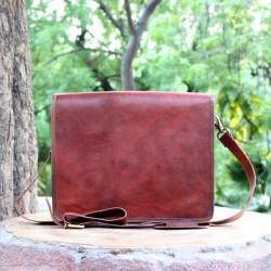 Classic Deluxe Leather Full Flap Shoulder Messenger Bag